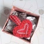 Handmade felt heart keying