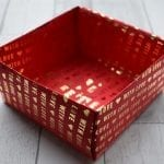 wrapping paper Christmas box