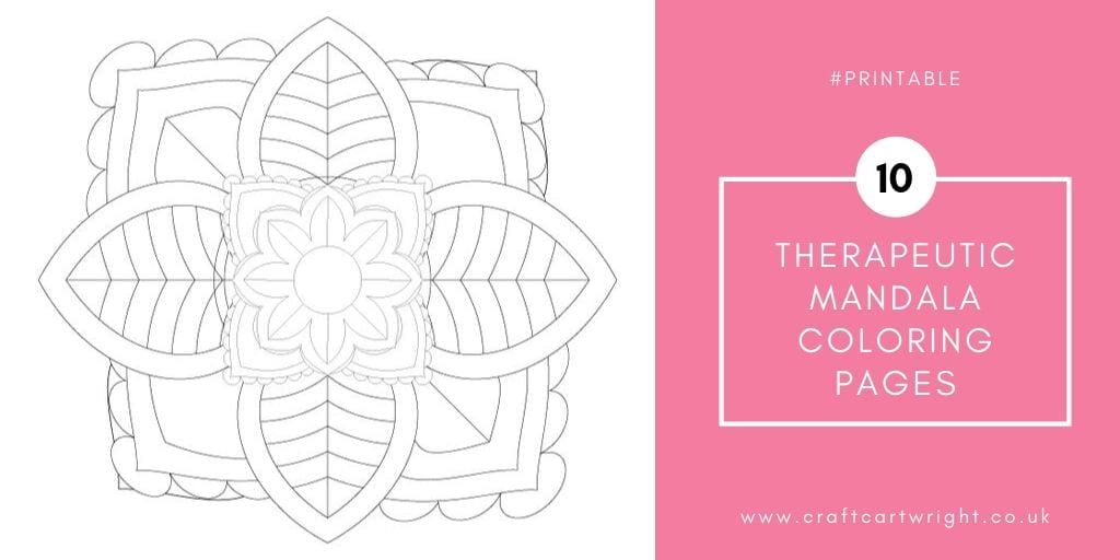 10 therapeutic mandala coloring pages - Craft with Cartwright