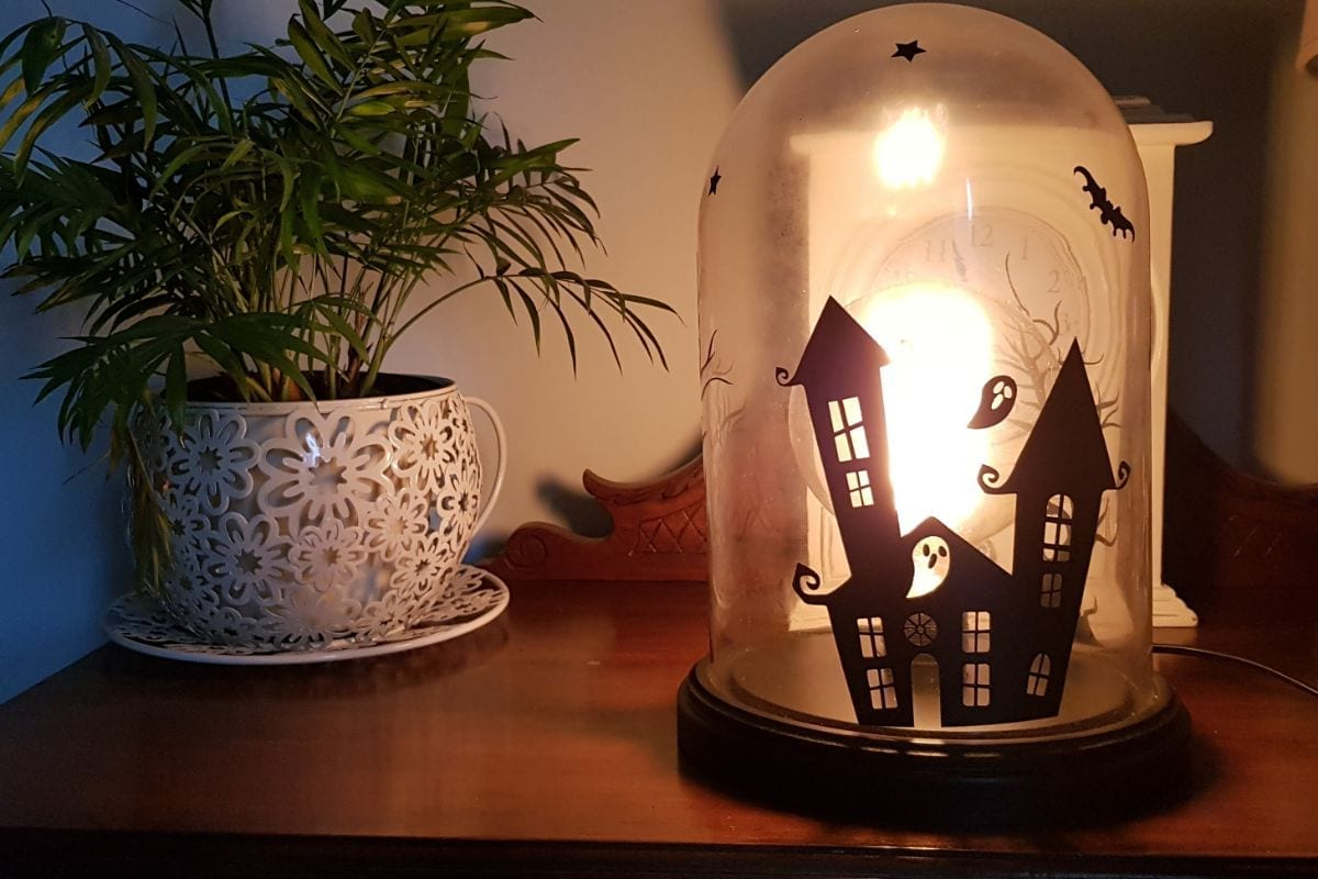 Diy Halloween Bell Jar Lamp Craft With Cartwright